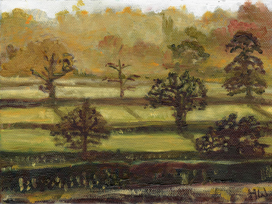 Fields Painting - Miniature # 5 by Helen White