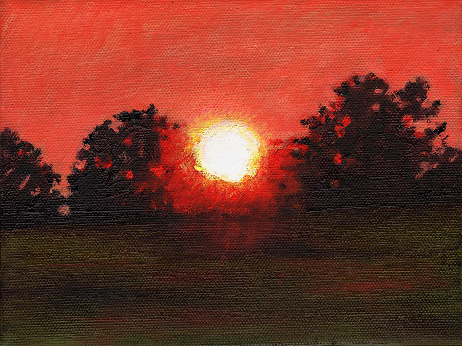 Sunset Painting - Miniature #3 by Helen White