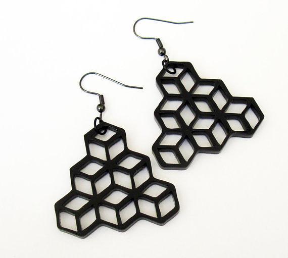 Jewelry Jewelry - Minimal Geometry - Cube Earrings by Rony Bank