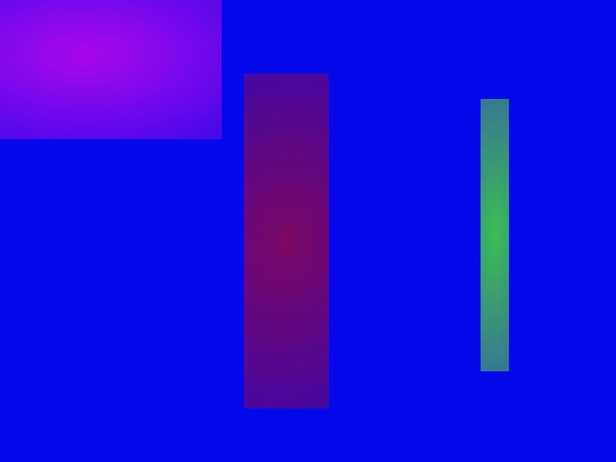 Gradation Digital Art - Minimalism Blue by Masaaki Kimura