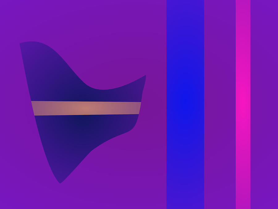 Gradation Digital Art - Minimalism Purple by Masaaki Kimura