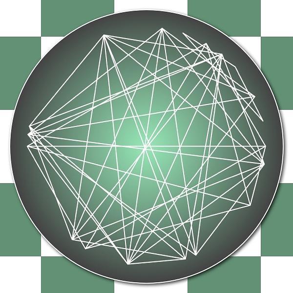 Astrology Digital Art - Minimalist Checkers Aspect Art by Nick Anthony Fiorenza