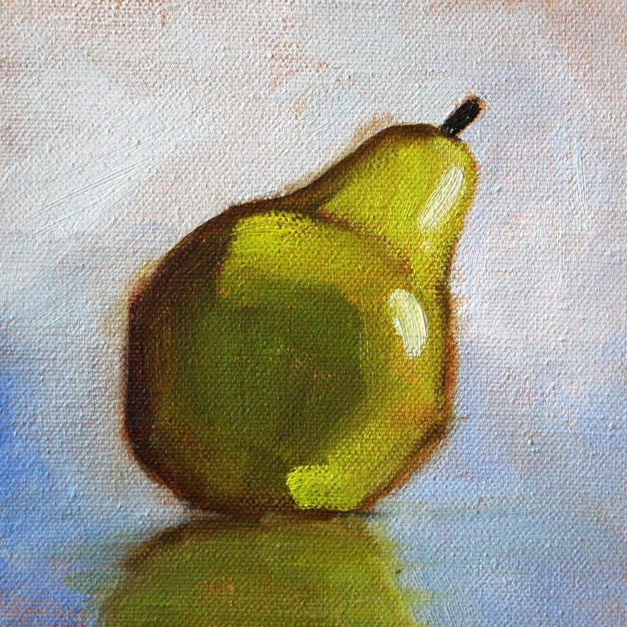 Minimalist Pear Painting Painting by Nancy Merkle