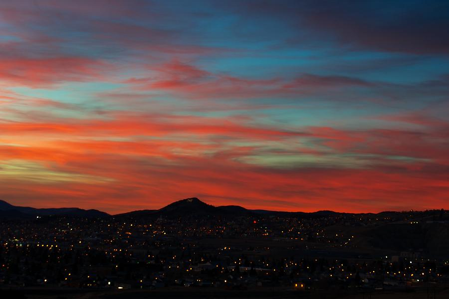 Sunset Photograph - Mining City Goodnight by Kevin Bone
