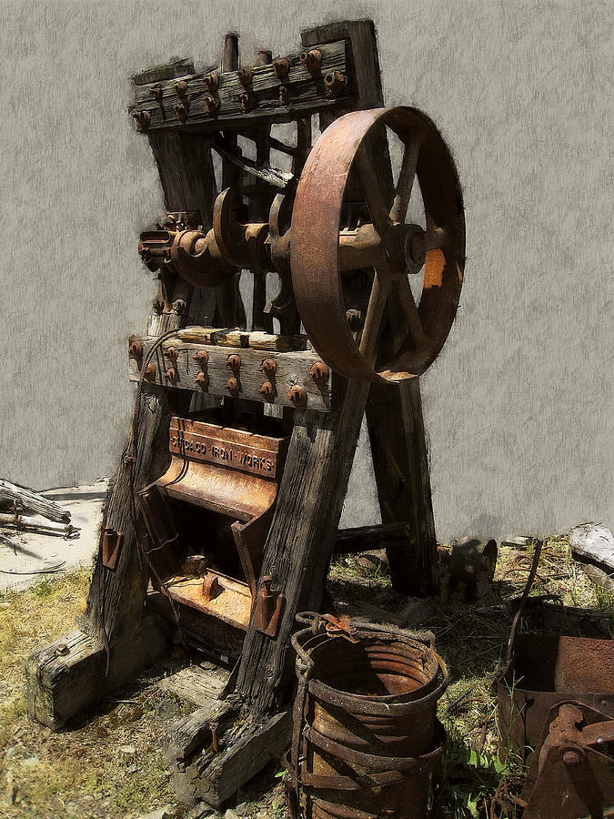 Mining Portable Stamp Mill Digital Art By Daniel Hagerman