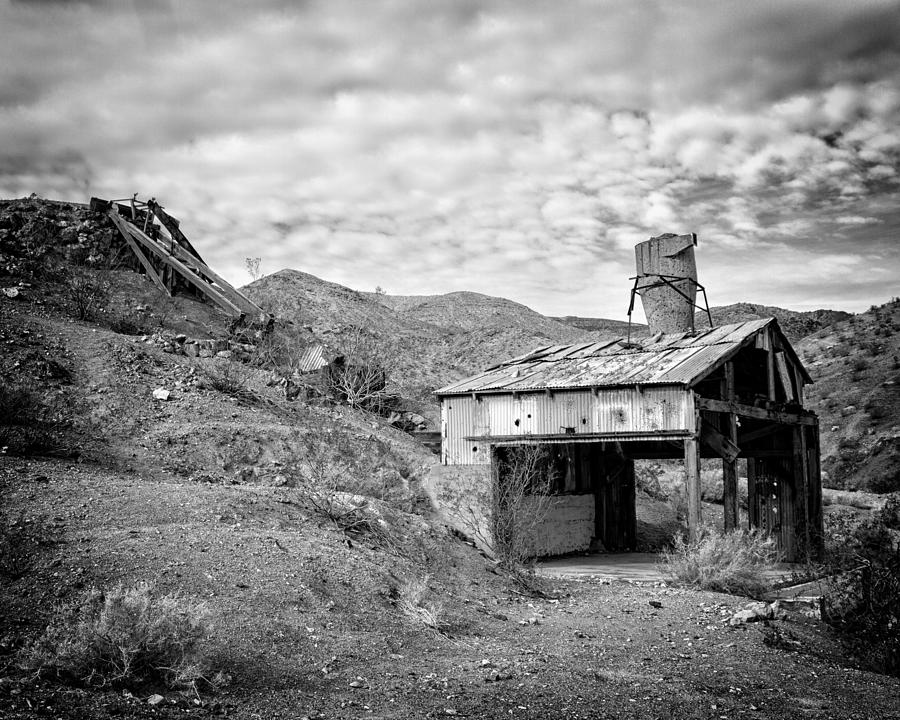 Abandoned Photograph - Mining Structures Darwin Hills Ca by Troy Montemayor