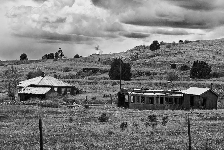 Old House Photograph - Mining Town  by Mae Wertz