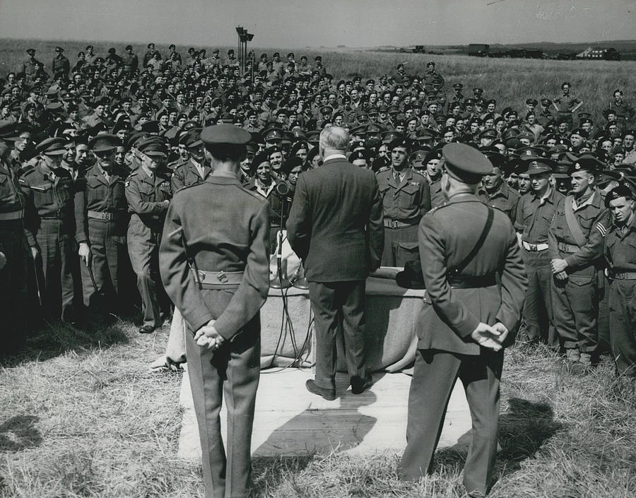 Retro Photograph - Minister Of Defence Inspects The Territorial�s. Addresses by Retro Images Archive