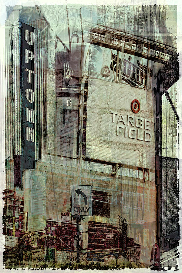 Target Field Digital Art - Minneapolis Area Collage by Susan Stone
