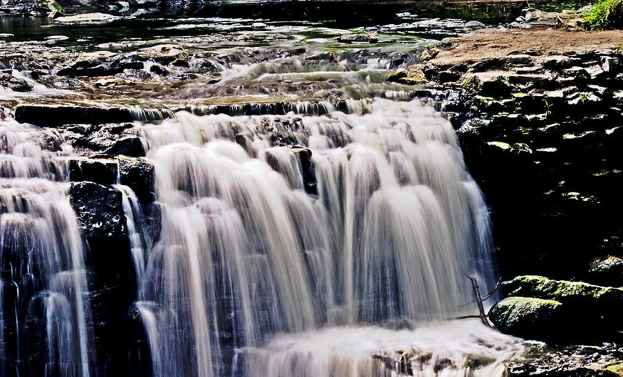 Waterfall Photograph - Minneopa Falls Upper by Mark Russell