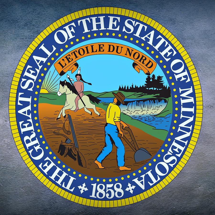Minnesota Digital Art - Minnesota State Seal by Movie Poster Prints
