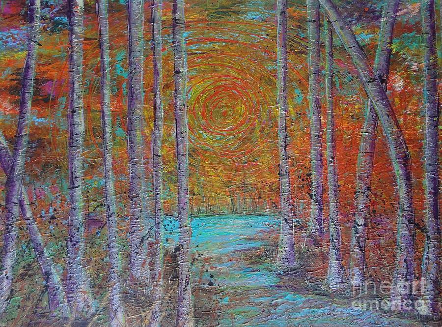 Minnesota Painting - Minnesota Sunset by Jacqueline Athmann