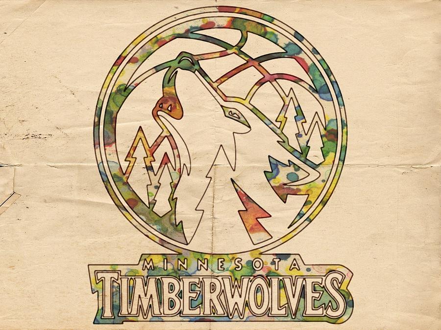 Minnesota Timberwolves Painting - Minnesota Timberwolves Retro Poster by Florian Rodarte