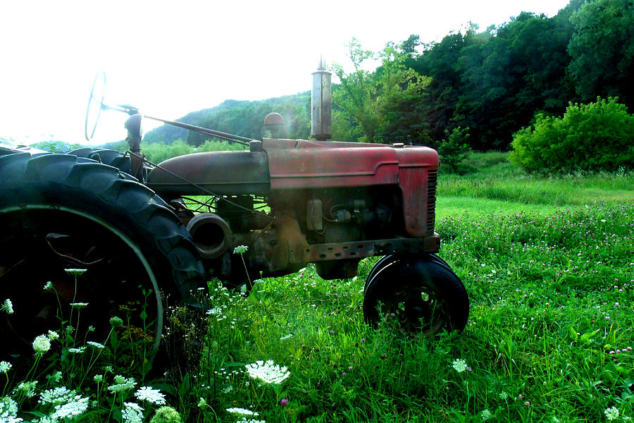 Landscape Photograph - Minnesota Tractor by J Montee