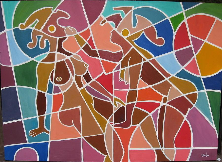Surreal Painting - Minoan Lovers by Bala Deva