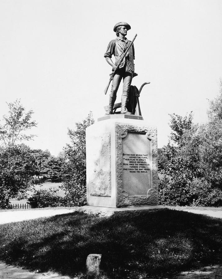 1876 Photograph - Minuteman Statue by Granger