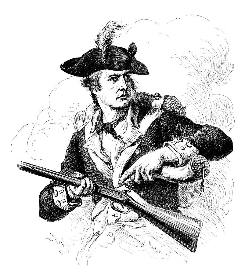 18th Century Photograph - Minutemen Soldier by Granger
