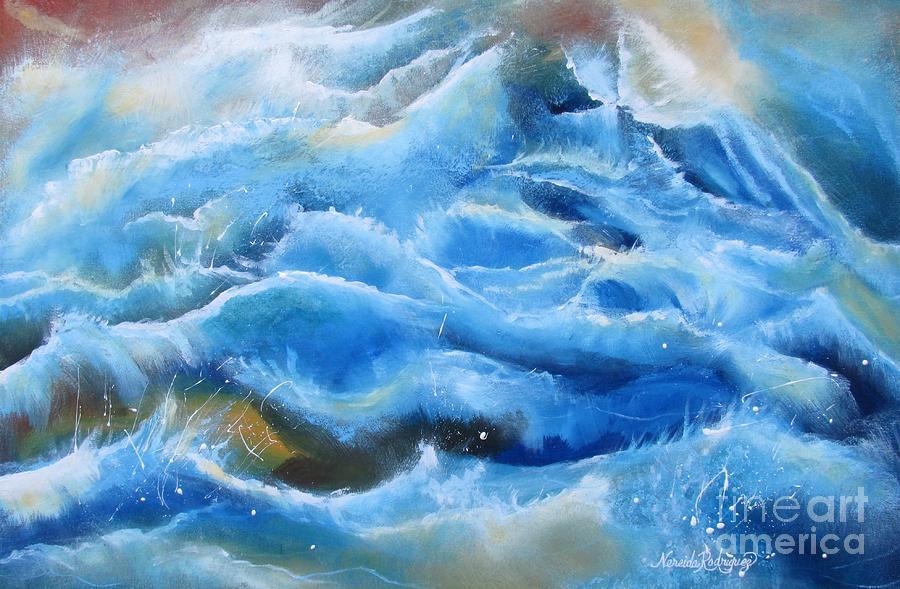 Sea Painting - Miracles by Nereida Rodriguez