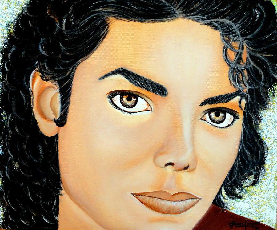 Pintura Painting - Mirada De Michael by Carmen Junyent