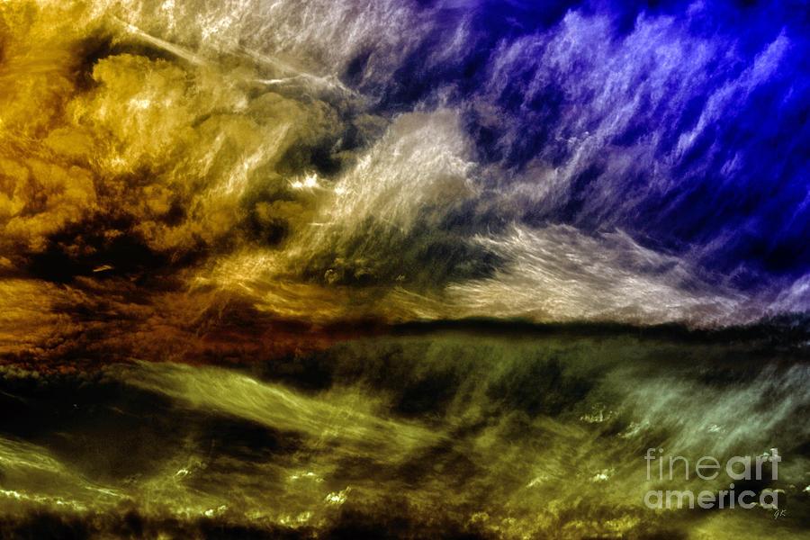 Abstract Painting - Mirage by Gerlinde Keating - Galleria GK Keating Associates Inc