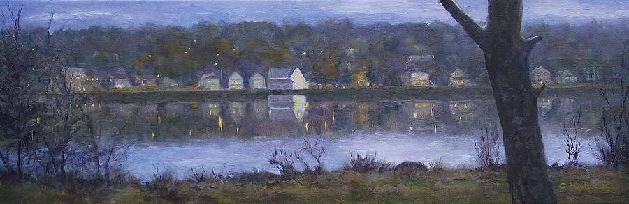 River Painting - Miramichi River Magic by Cathleen Richards-Green
