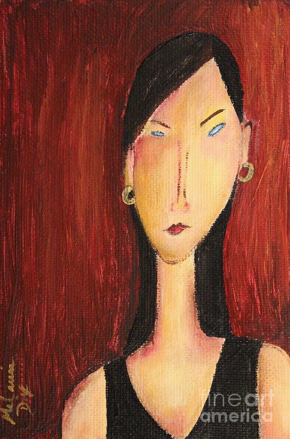 Acrylic Painting - Miranda by Melanie Dix
