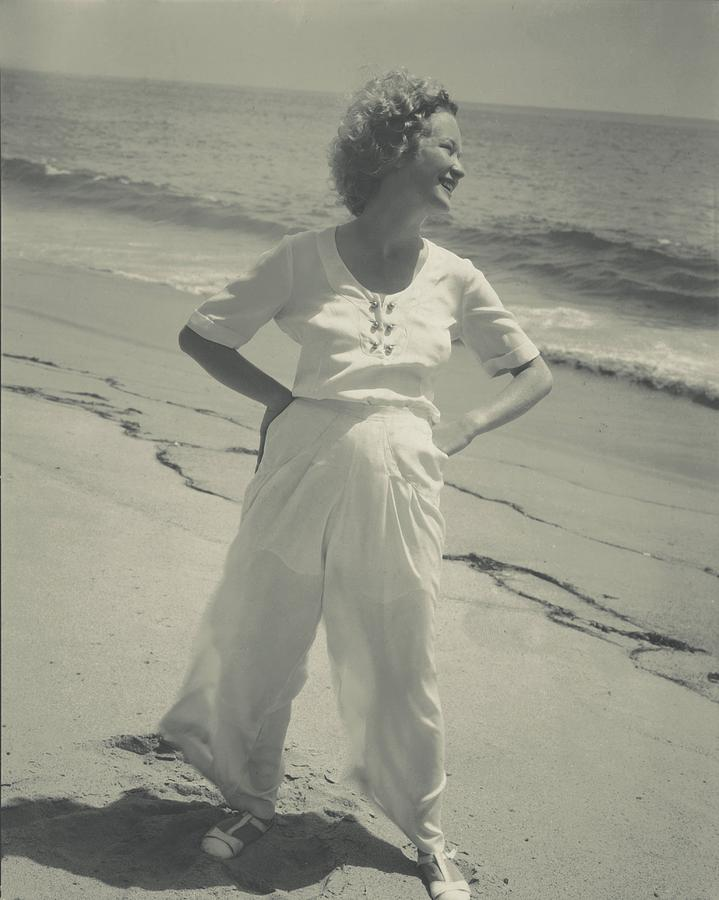 Miriam Hopkins On A Beach Photograph by Edward Steichen
