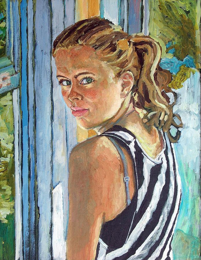 Miriam Mixed Media - Miriam by Janet Ashworth