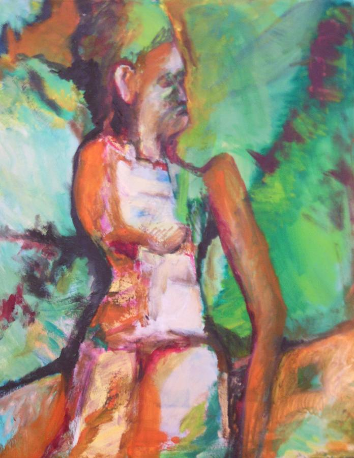 Miriam The Prophetess Painting - Miriams Punishment by Esther Newman-Cohen