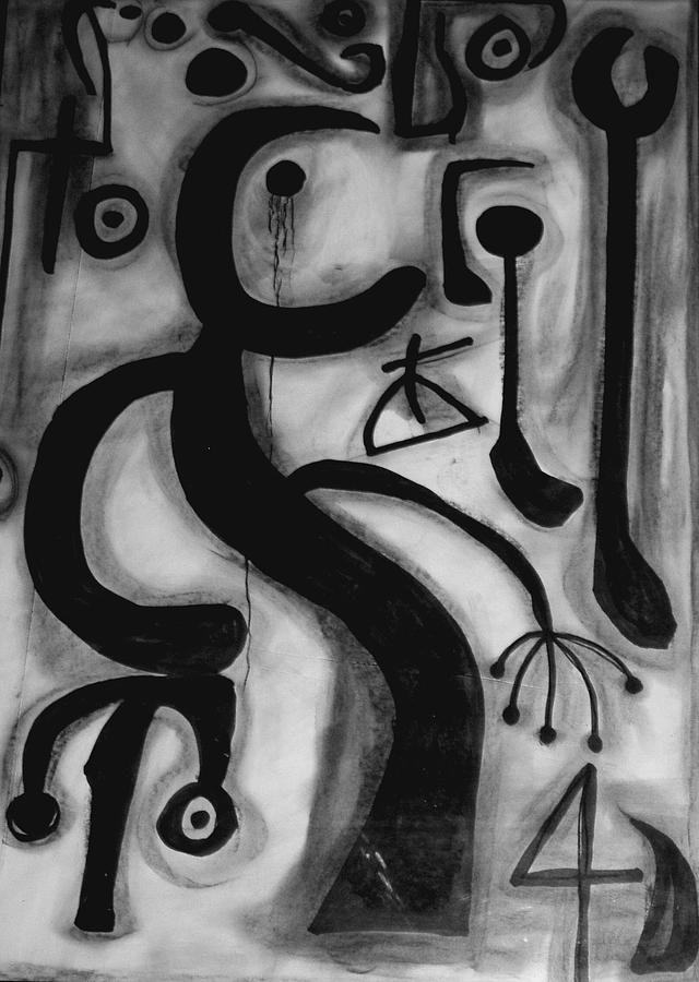 Abstract Painting - Miro by Andrea Vazquez-Davidson