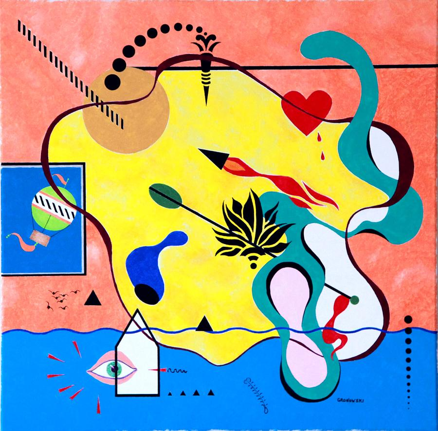 Miro Miro On The Wall Painting by Thomas Gronowski