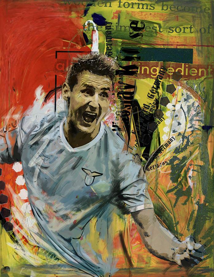Miroslav Klose Painting - Miroslav Klose by Corporate Art Task Force
