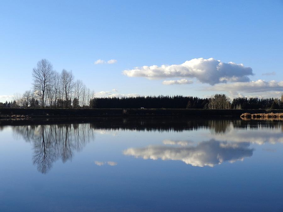 Mirrored Clouds - Lake Reflection, British Columbia Photograph