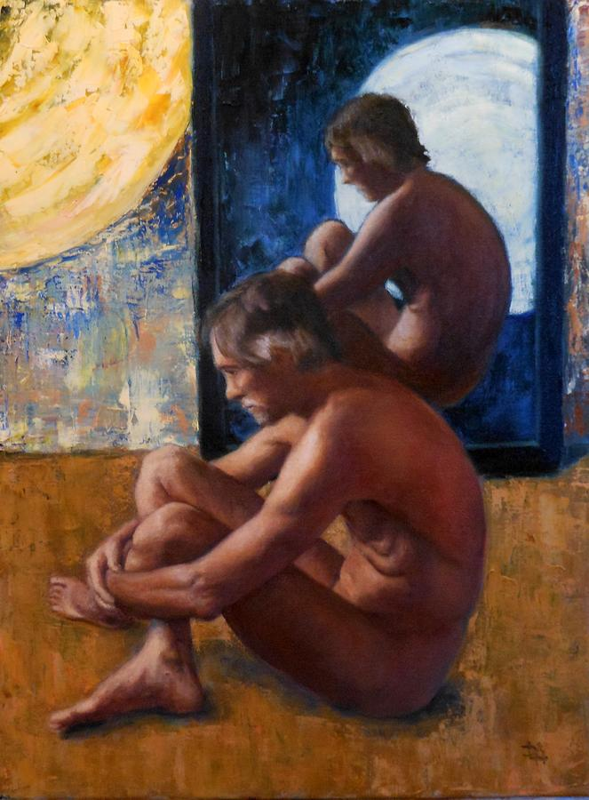 Man Painting - Mirror by Deborah Allison