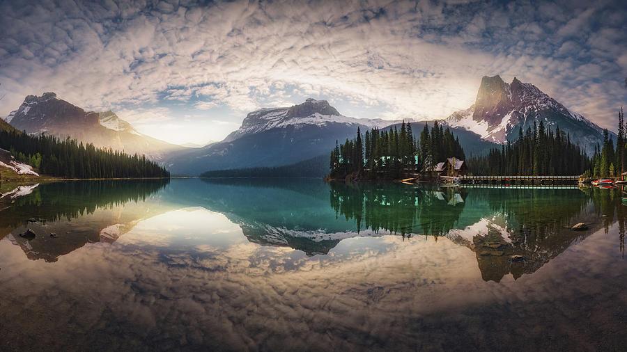 Canada Photograph - Mirror Emerald by Juan Pablo De