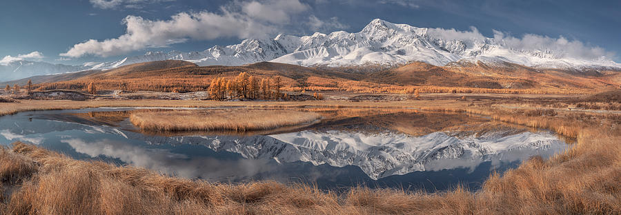 Panorama Photograph - Mirror For Mountains 3 by Valeriy Shcherbina