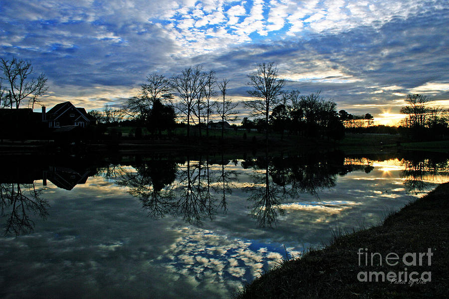 Sunsets Photograph - Mirror Image Clouds by Jinx Farmer