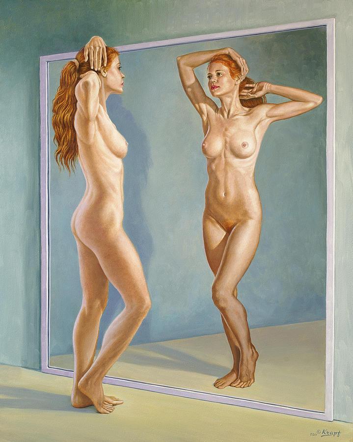 Figure Painting - Mirror Image by Paul Krapf