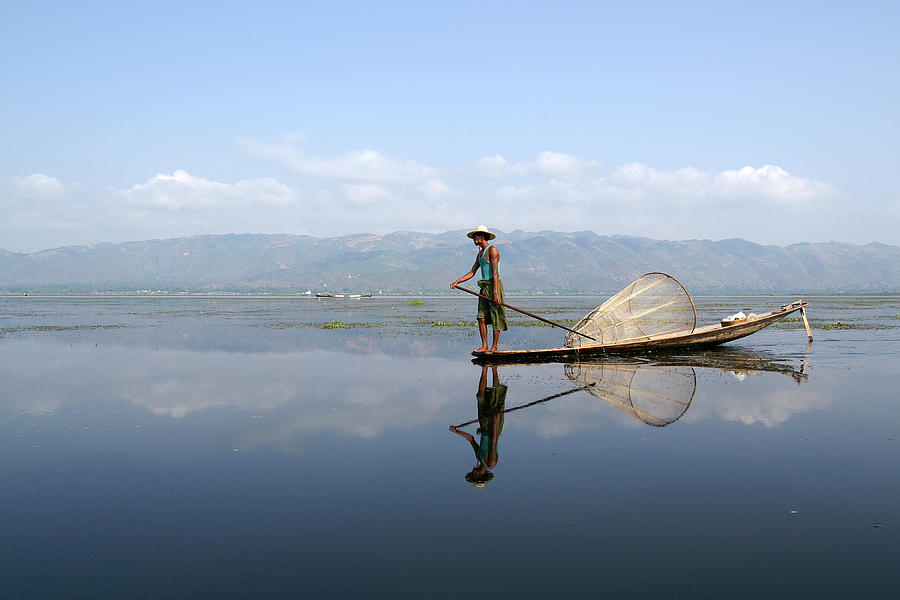 Mirror Photograph - Mirror Inle Lake by Jessica Rose