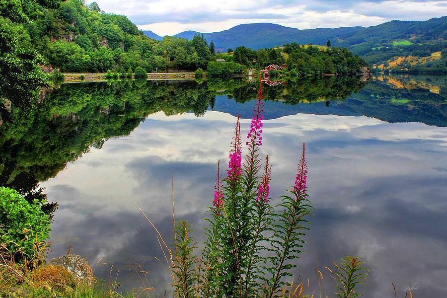Discount Photograph - Mirror Lake Bjorheimsvatnet in Rogaland  by Julia Fine Art And Photography