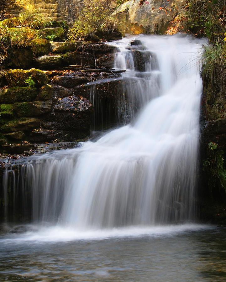 Water Fall Photograph - Mirror Lake Falls by Kevin Pugh