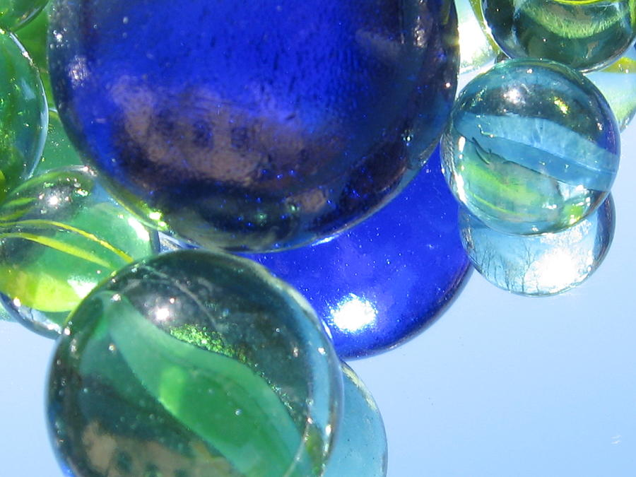 Marbles Photograph - Mirrored Marbles by Tracy Male