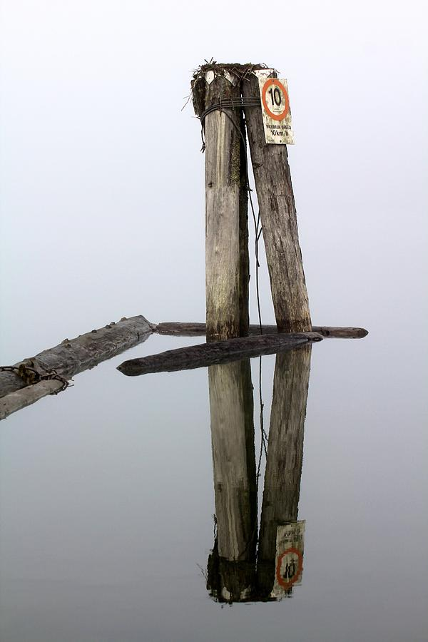 Mirrored Foggy Moorings - Pitt Lake, British Columbia Photograph