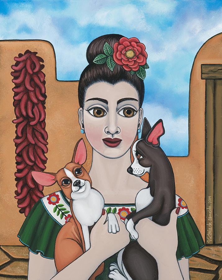 Chihuahua Painting - Mis Carinos by Douglas Jones