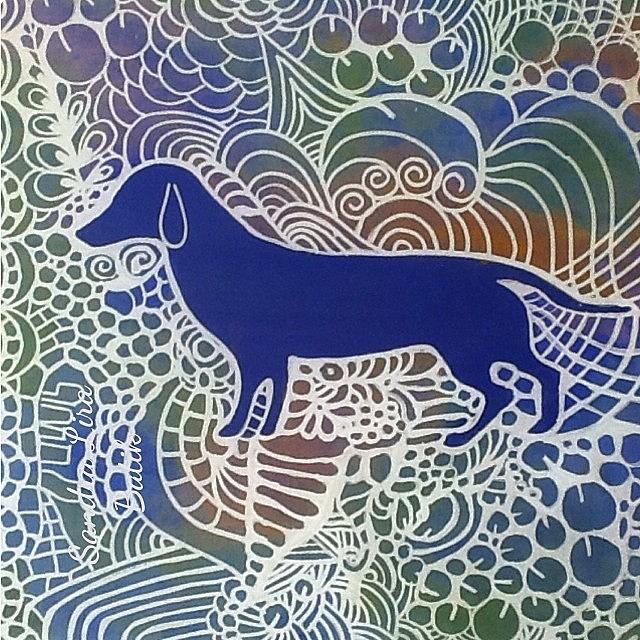 Dog Painting - Dog Lovers by Sandra Lira