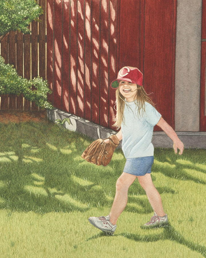 Baseball Painting - Mischief by Dee Dee  Whittle