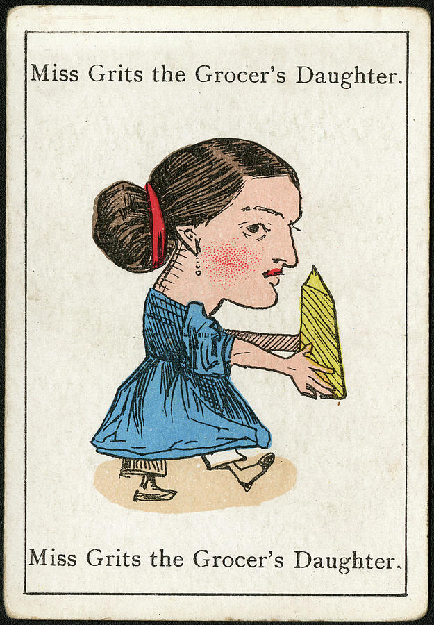Miss Drawing - Miss Grits The Grocers  Daughter by Mary Evans Picture Library