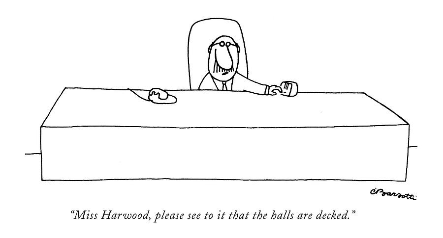 Miss Harwood Drawing by Charles Barsotti