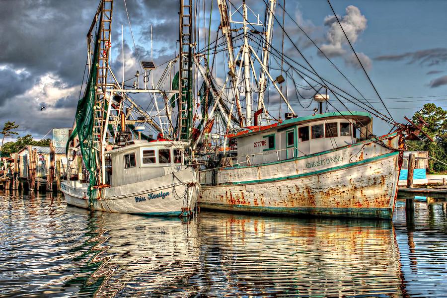 Shrimp Boats Photograph - Miss Kaetlyn And Christi Lynne by Lynn Jordan