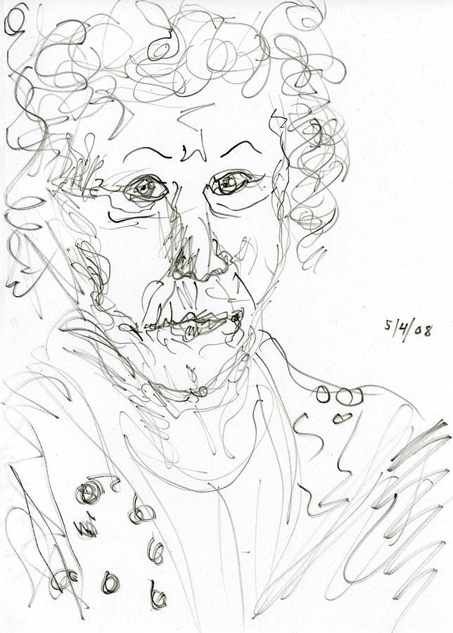 Miss Marple Drawing - Miss Marple Sketch II by Rachel Scott